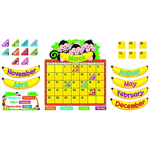 TREND ENTERPRISES INC. MONKEY MISCHIEF CALENDAR BB SET (Set of (Monkey Mischief Bb Set)