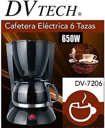 Dvtech Cafetera Goteo 6 Taza 650w DV-7206: Amazon.es: Hogar
