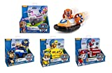 Case Set Paw Patrol 5 Pack Playsets Zuma's Hovercraft Skye's High Flyin' Copter Chase's Cruiser Rubble's Bulldozer Marshall's Fire Fightin' Truck