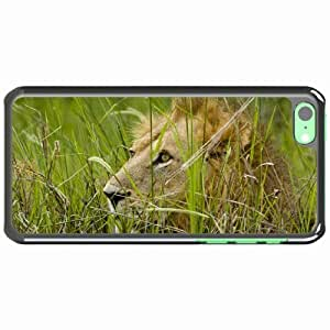 iPhone 5C Black Hardshell Case grass muzzle mane Desin Images Protector Back Cover