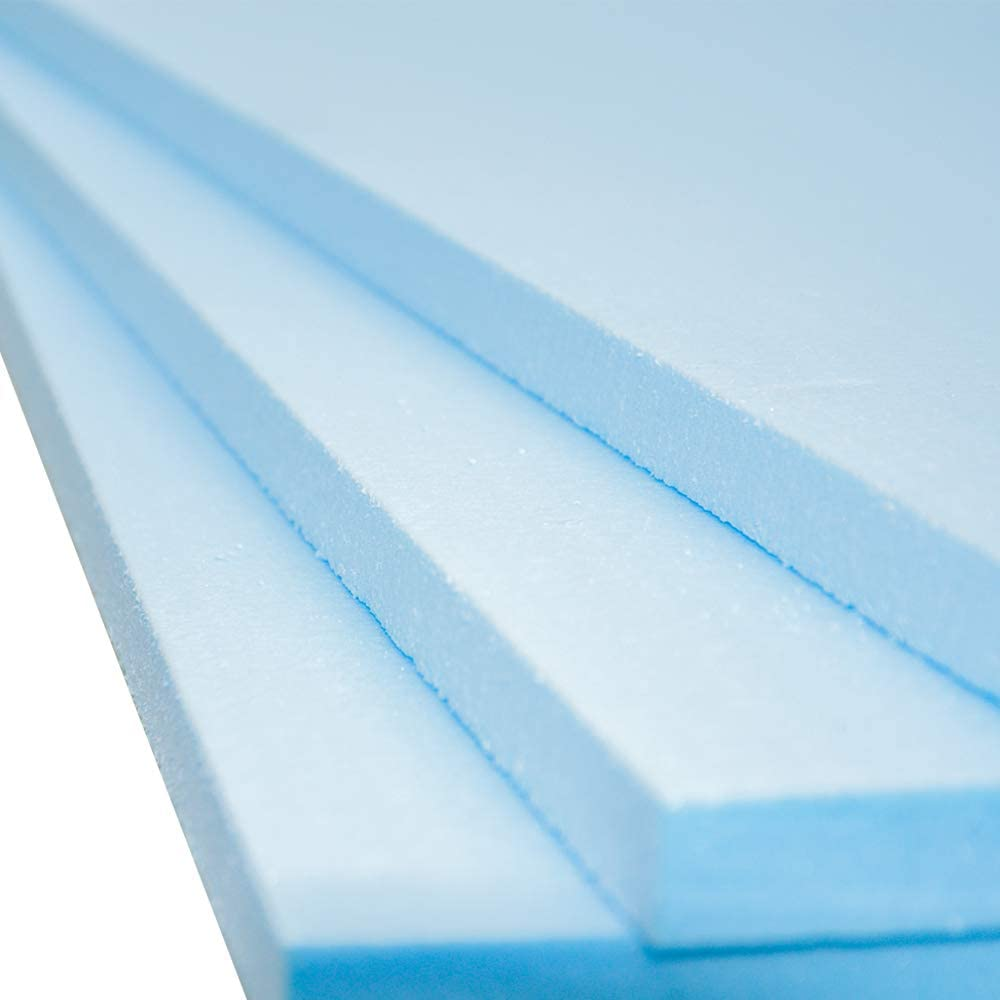 Qty-5 Coverage 3.6m2 XPS Foam Insulation Boards 1200 x 600 x 20mm Electric and Water Underfloor Heating Tile Laminate Underlay Thermal Extruded Polystyrene Insulation Sheets