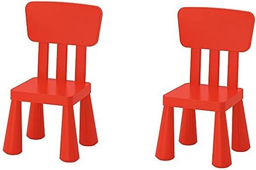 Amazon Com Ikea Mammut Kids Indoor Outdoor Children S Chair Red