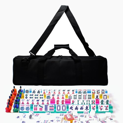 WE Games American Mahjong in Canvas Bag by Wood Expressions