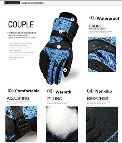 Più Quadrati Antivento Sporttent Snowboard Inverno Esterno Sport Caldo Nero Guanti Comodo Mens Sci Guanto Neve E Blu Snowboard Impermeabili Sulla wCaxtBxIq