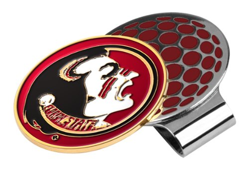 (LinksWalker NCAA Florida State Seminoles Golf Hat Clip with Ball Marker )