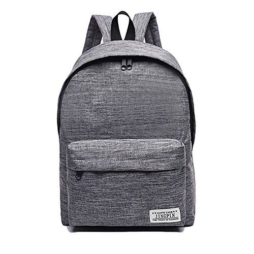 ck Classic Bookbag Rucksack Lightweight School Bag for Women Mens (Grey) ()