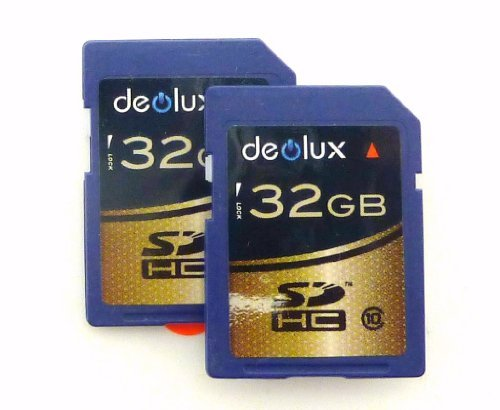 Trade Twin Pack 2 x 32GB Memory Card class 10 SD SDHC class 10 Ultra Fast Secure Digital Memory Card class 10 for Canon Powershot A3100 IS, A3150 IS, A3200 IS, A3300 IS, A3350, A3350 IS, A3400 IS, A4000 IS, A4050 IS, D10, E1, G7, G1 X, G9, G10, G11, G12,  by DEOLUX