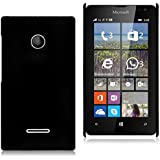 WOW Imagine(TM) Rubberised Matte Hard Case Back Cover For Microsoft Nokia Lumia 532 (Black)