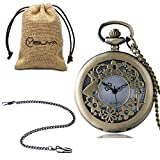 Unique Hollow Dial Christmas Gift Pocket Watch for Men, Precision Watches for Boyfriend