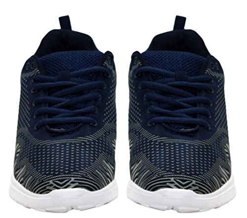 Formateurs Airtech Tailles De De 12 Maille Course Sport Bleu Chaussures Marine De Chaussures Sport Toile Mens À Fitness Dentelle Gris Gymnase Pied 7 qTw8tPZAc