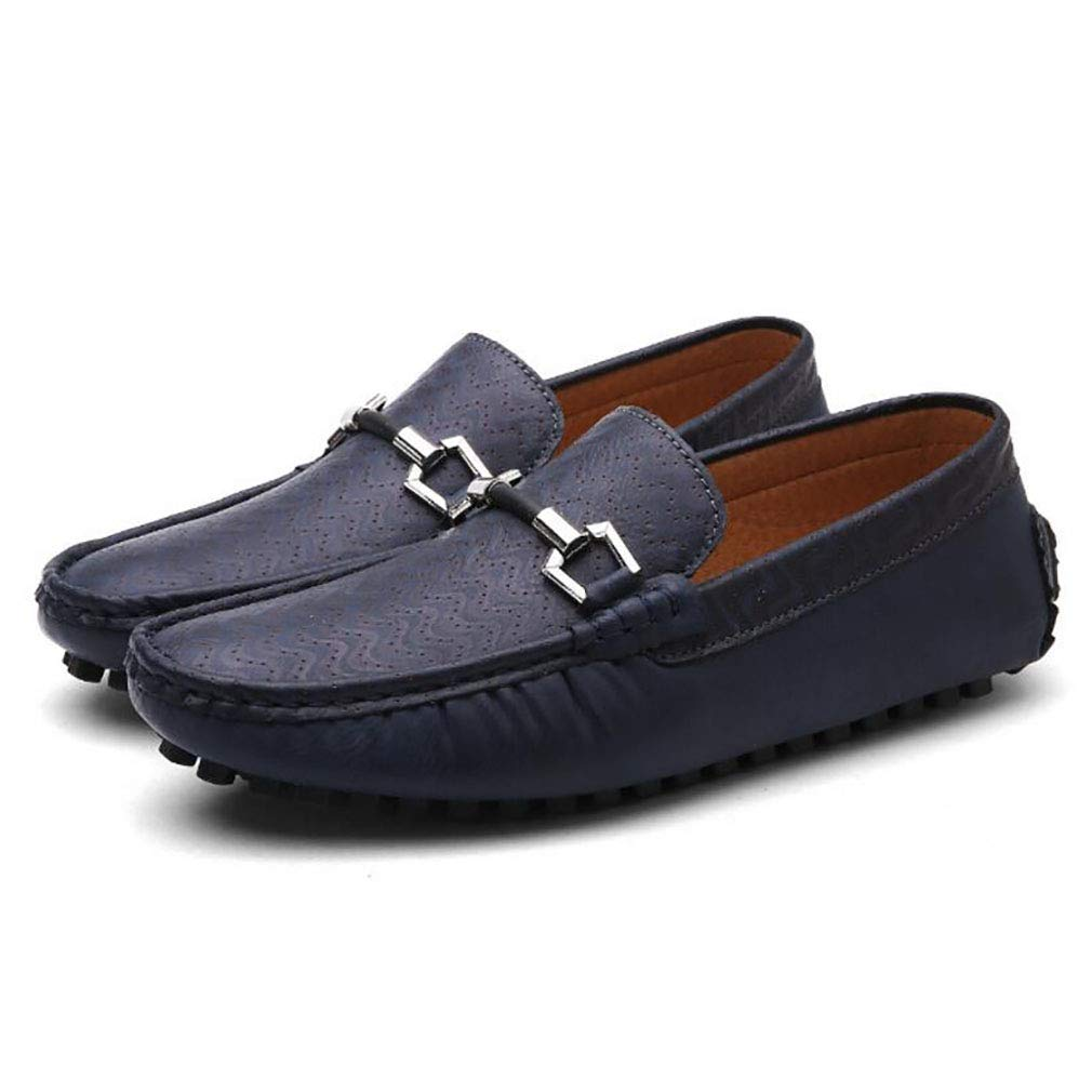 Mocasines para Barcos de Hombre Mocasines de Cuero con Cordones Zapatos Antideslizantes Conducción 2018 Zapatos de Moda Casual para Calle Spring & Fall 41 EU|Un