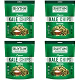 Rhythm Superfoods Kale Chips, Original, Organic and Non-GMO, 2 Oz (Pack of 4), Vegan/Gluten-Free Superfood Snacks