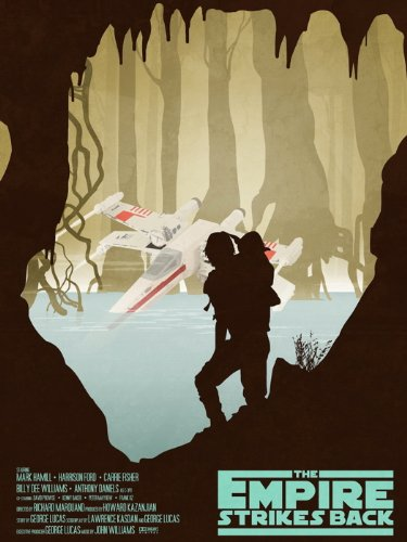 DV1099 Star Wars Empire Strikes Back Dagobah X-Wing Yoda Luke Art Artwork 32x24 Print POSTER