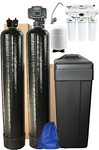 ABCwaters Triple Combo Whole House Fleck 5600sxt 48,000 Grain Water (Nitrate Removal Water Filter)