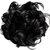 PRETTYSHOP XXXL Hairpiece Hair Wrap Scrunchie Scrunchy Updos, VOLUMINOUS, Curly Messy Bun, Different Colors Available