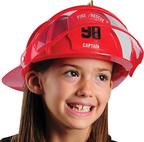 Deluxe Child Firefighter Hard Hat Toy Helmet & Visor]()