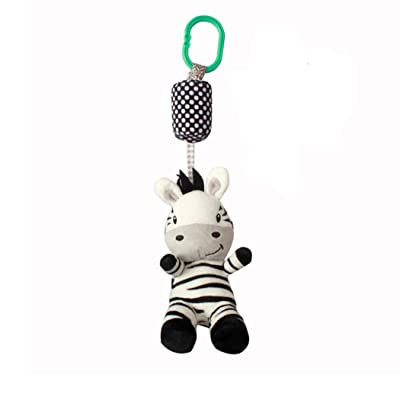 ZALING Cartoon Developmental Baby Toys Infant Mobile Plush Baby Toy Bed Wind Chimes Rattles Bell Toy: Toys & Games