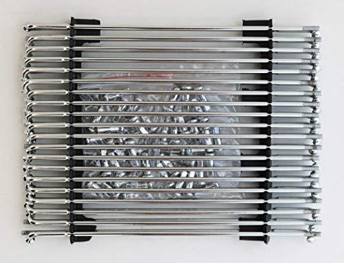 """Ultima Chrome Steel 40 Spokes for 21"""", H-D 1974 steel hub to 21"""" custom rim. # 31-83"""