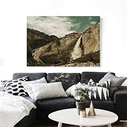 Yosemite The Picture for Home Decoration Waterfalls in Yosemite National Park California Famous Travel Destination Customizable Wall Stickers 24