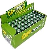 GP Batteries GP15G Greencell R6P/1215/AA Kalem Pil, 1.5 Volt, 40'lı Kutu, Yeşil/Sarı/Beyaz