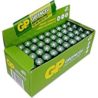 GP Green Cell AA Battery - Extra Heavy Duty, Pack of 40