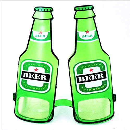 St. Patrick's Day Funny Beer Bottle Eye Glasses Goggles Bar Music Holiday Party Accessory, Green