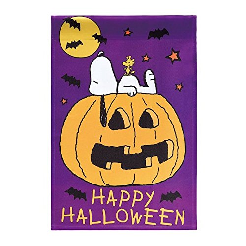 Peanuts Happy Halloween Garden Flag 12inX18in]()