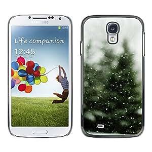 Paccase / SLIM PC / Aliminium Casa Carcasa Funda Case Cover - Tree Christmas Winter Snow - Samsung Galaxy S4 I9500