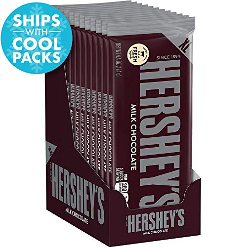 HERSHEY'S Chocolate Candy Bars, Extra Large, 4.4 Ounce Bar (Pack of 12)]()