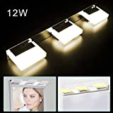 LED Vanity Light, 3 Lights, Front Mirror Toilet Wall Lamp Fixture, Bathroom