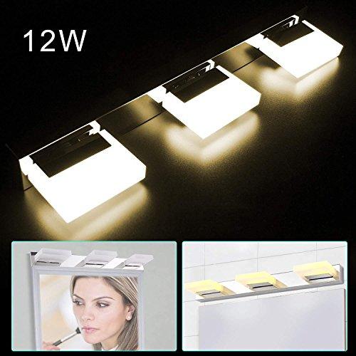 LED Vanity Light, 3 Lights, Front Mirror Toilet Wall Lamp Fixture, - Light Fluorescent 3 Vanity