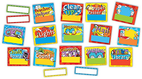 Eureka's Dr. Seuss Job Chart and Name Tags Classroom Supplies, 40 pc.