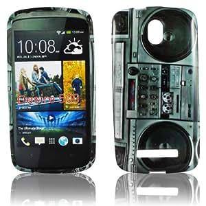 thematys® Carcasa para HTC Desire 500 (silicona) diseño de equipo de música
