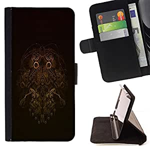 For Sony Xperia Z1 L39 Robot Wireframe Beautiful Print Wallet Leather Case Cover With Credit Card Slots And Stand Function