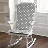 Carousel Designs Gray and White Dots and Stripes Rocking Chair Pad