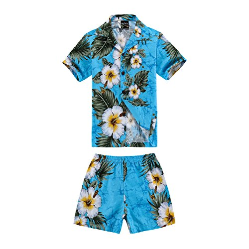 Boy Hawaiian Shirt and Shorts 2 Piece Cabana