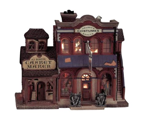 Lemax Spooky Town Village Collection Dragon's Breath Costume Shop #05468 -