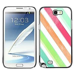 TopCaseStore / la caja del caucho duro de la cubierta de protección de la piel - Colors White Teal Green - Samsung Galaxy Note 2 N7100