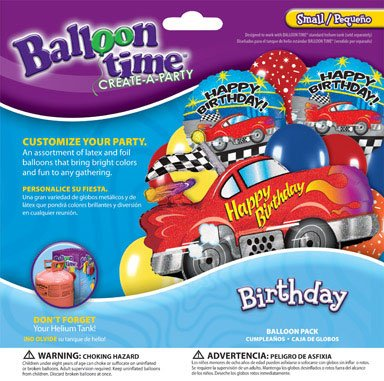 Balloon Time Balloon Pack Sports Car Birthday Use W/ Helium