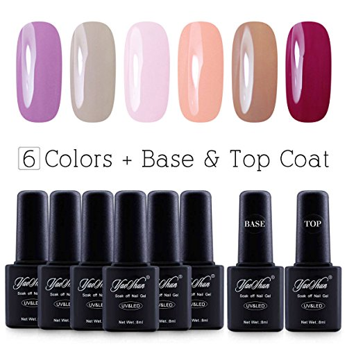 Soak Off Gel Nail Polish - UV Led Y&S 8ml 8Pcs/lot  Lacquer