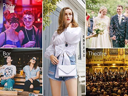 Milisente Clutch Purses for Women evening Glitter Wedding Purse Crystal Envelope Clutches Shoulder Bags (White) by Milisente (Image #6)