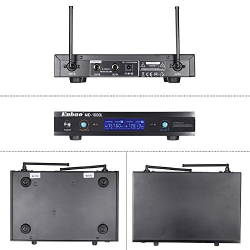 Walmeck Wireless Microphones System 2 Microphones 1 Receiver LCD Display for Karaoke Meeting Party by Walmeck (Image #1)