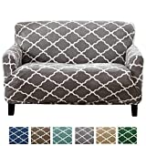 Great Bay Home Modern Velvet Plush Strapless Slipcover. Form Fit Stretch, Stylish Furniture