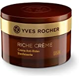 Yves Rocher Face Moisturizer Riche Crème Comforting Anti-wrinkle Day Cream with precious oils, for Mature Skin + Dry skin, 50