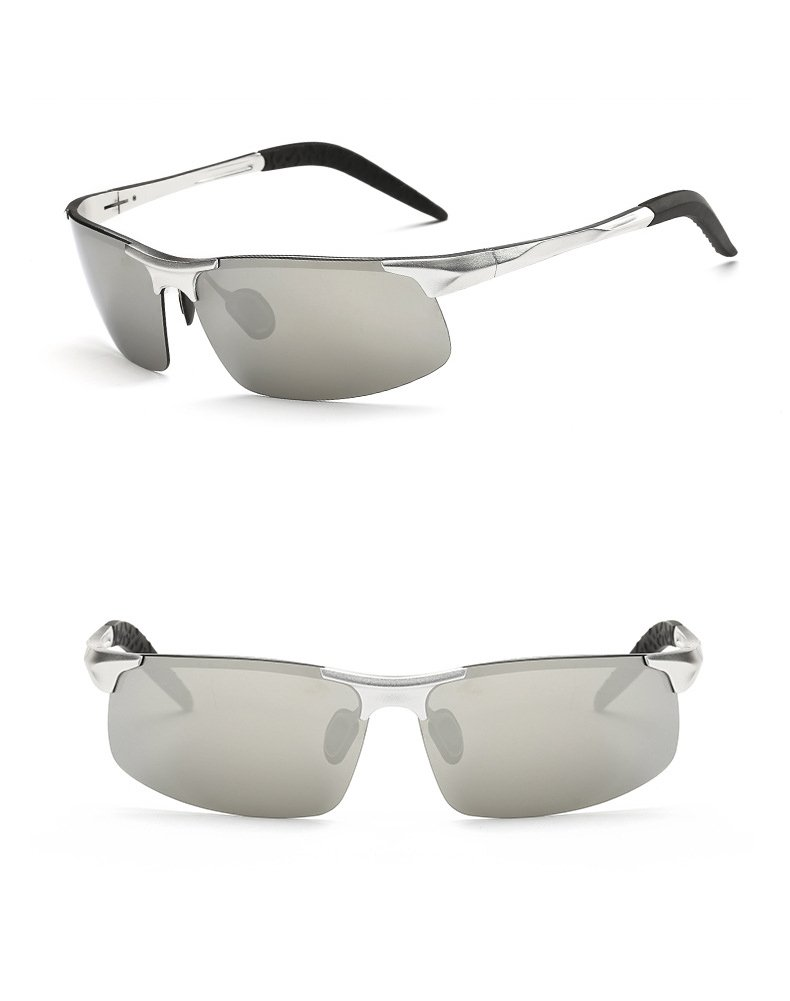 efcb988b97 Galleon - Ronsou Men Sport Al-Mg Polarized Sunglasses Unbreakable For  Driving Cycling Fishing Golf Silver Frame silver Lens