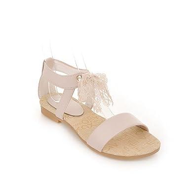 85447851b11aef Femme Sandales/Bout Ouvert/Spartiates Femme/Bout Fermé/La Fin de l'été  Sandales Soft Frais étudiants Télévision Ruban Chaussures Femmes:  Amazon.fr: ...