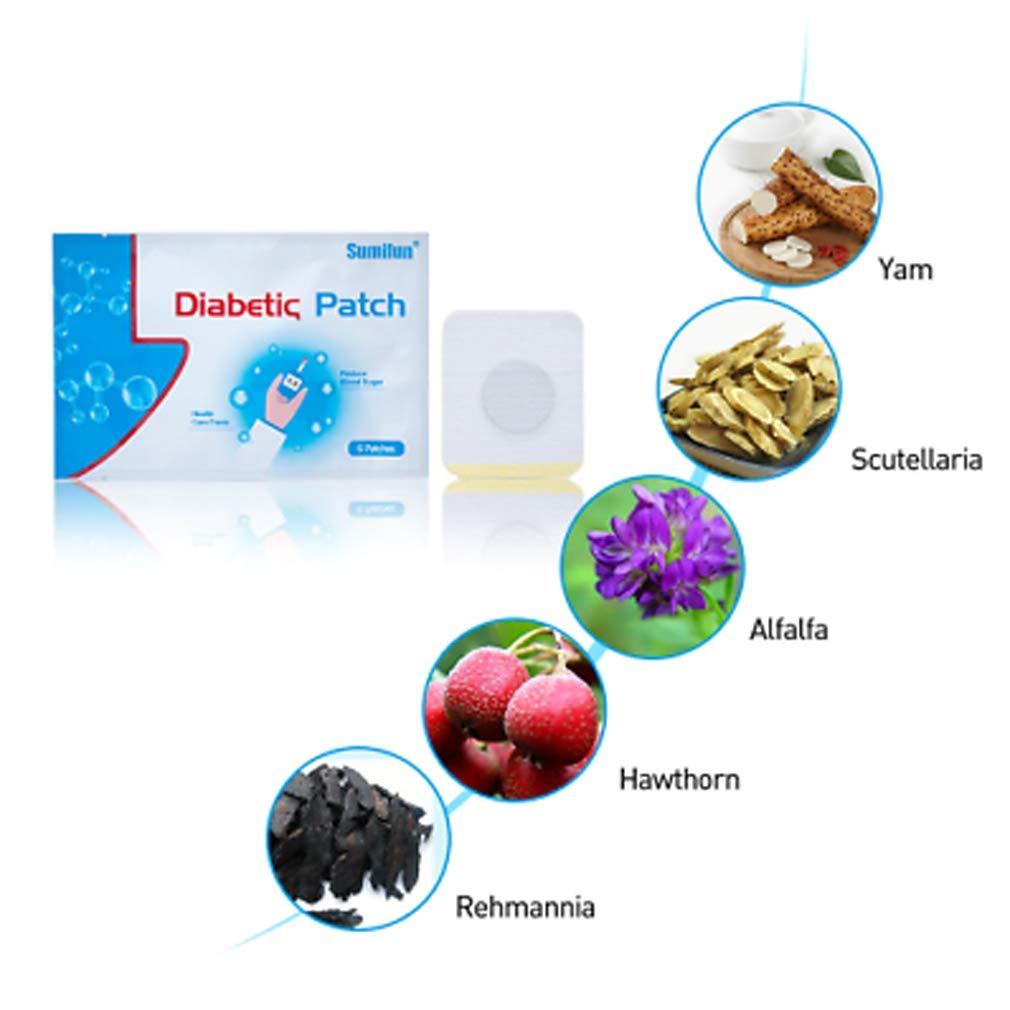 60pcs/10Bag Diabex Natural Herbal Patch