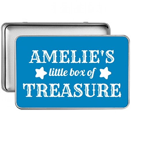 Amelie's Little Box Of Treasure: Small Rectangle Silver Metal Storage Tin