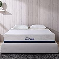 Full Mattress Pillow Bundle, Cuddly Memory Foam, 10 inch, LazyCat