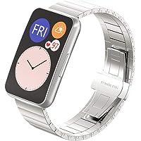 Viesky Correa de acero inoxidable Correa de reloj Correa de reloj para Huawei Watch Fit Watch